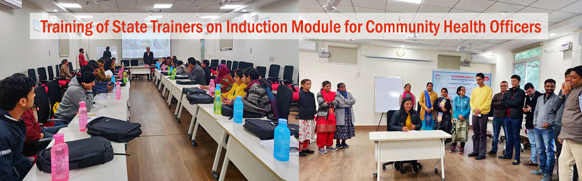 Training of State Trainers on Induction Module for Community Health Officers